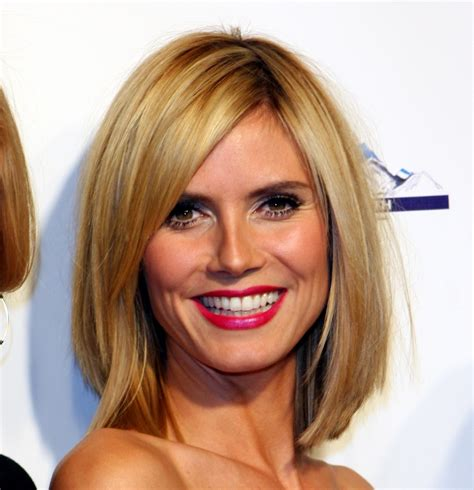 hairstyles blonde shoulder length hair 17 stylish celebrity hairstyle trends for 2011 heidi klum