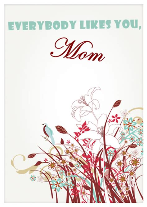 Mothers Day Card Publisher Template by Mothers Day Card Templates Greeting Card Builder