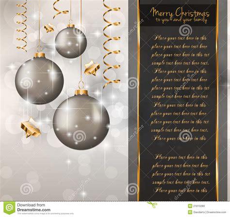 elegant classic christmas greetings royalty free stock