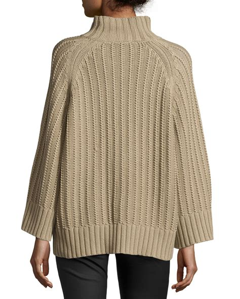 shaker knit sweater lyst michael kors ribbed shaker knit sweater in