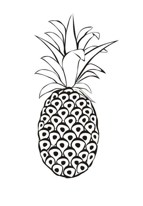 pineapple color pineapple coloring pages 360coloringpages