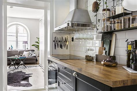 delightful Modern Small Apartment Design #1: small-apartment-french-kitchen.jpg