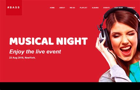templates for music website free download music website template free download webthemez