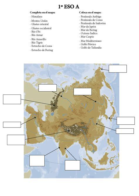 accidentes geograficos de america accidentes costeros de asia mapa