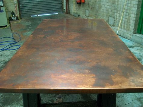 17 bronze aged copper table top variation of patina