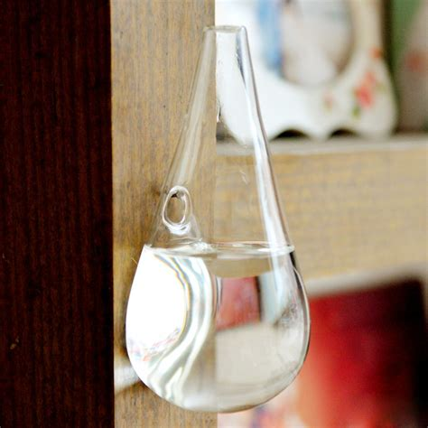 Wall Mounted Glass Vase by Wall Mounted Water Drop Shape Glass Vase Garden