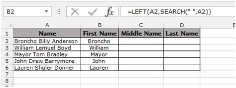 format excel last name first name extract the first middle and last name in excel 2010