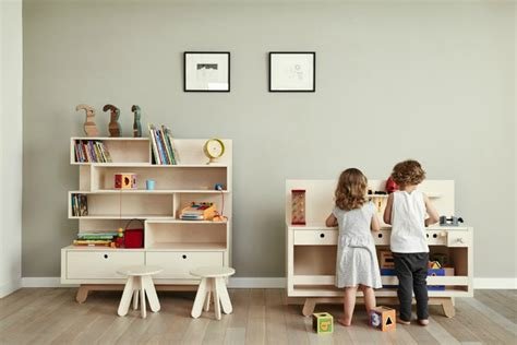 White Desk And Bookcase Kutikai Functional And Creative Furniture For Kids