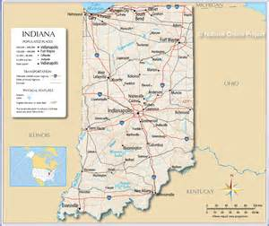 Indiana State Map by Reference Map Of Indiana Usa Nations Online Project