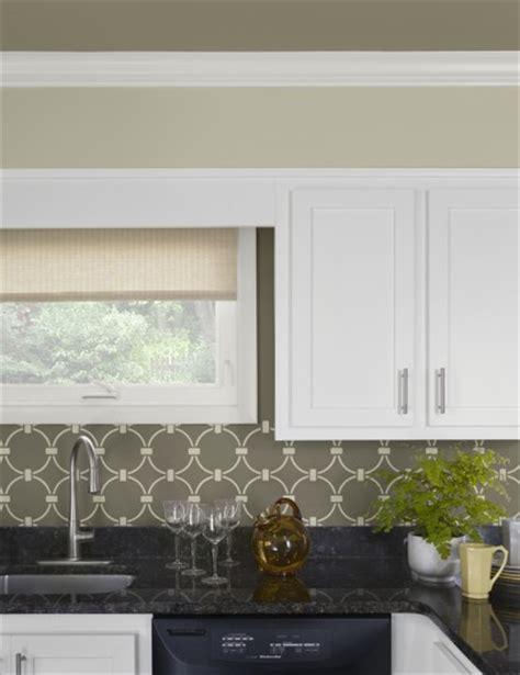 stencil tile backsplash benjamin starts a trend with stenciled kitchen
