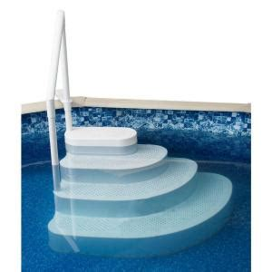 blue wave wedding cake above ground pool step ne100wh