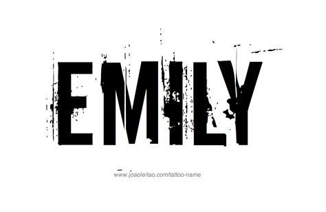 emily tattoo designs emily name designs my type of tattos