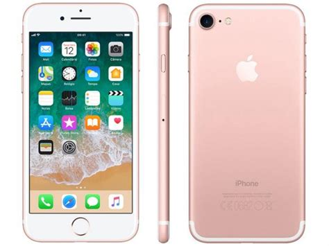e iphone 7 iphone 7 apple 32gb ouro rosa 4g tela 4 7 retina c 226 m 12mp selfie 7mp ios 11 proc chip a10