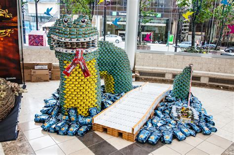 simple canstruction ideas canstruction vancouver creates works of and feeds the needy