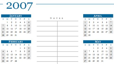download of they day 2007 calendar word templates