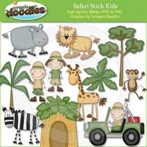 Apple Syari Kid safari stick 2 80 scrappin doodles creative clip websets more