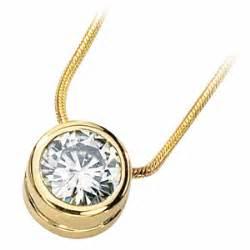 Black Moissanite 1 5 Ct 1 5 ct moissanite bezel necklace jj62087 15014ky