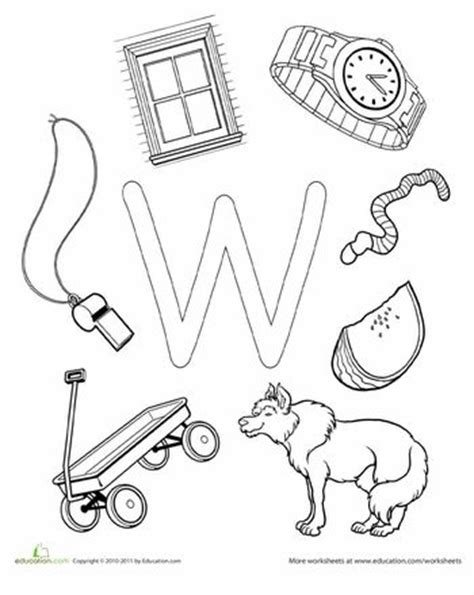 letter w coloring pages preschool 9 best letter w worksheets images on pinterest preschool