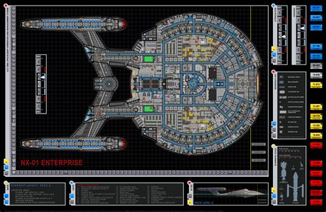 Star Trek Enterprise Floor Plans | star trek blueprints enterprise nx 01 deck plans