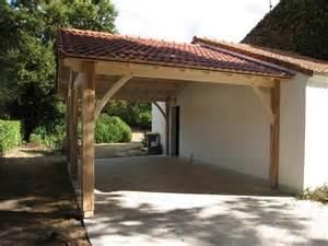 auvents bois pr 233 au auvent carport constructions bois abri la romagne