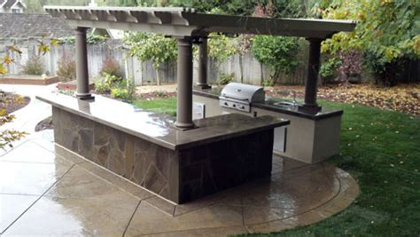 concrete countertop outdoor