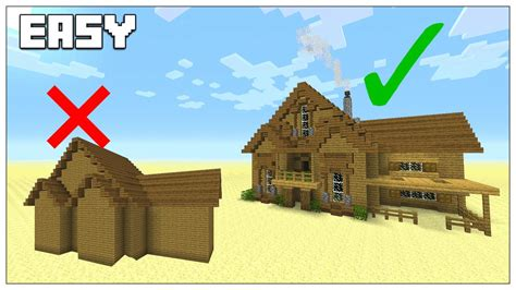 minecraft improve your house build tips youtube easy tips to build better in minecraft survival house