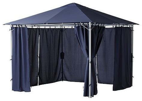ikea outdoor gazebo karls 214 gazebo with curtains traditional curtains by ikea