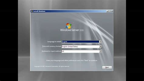 installing xp on windows server 2008 r2 installing windows server 2008 enterprise edition youtube