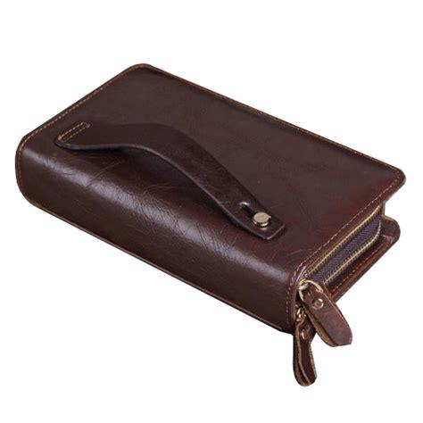Dompet Murah Ziper Kulit Ck Brown dompet kulit clutch pria zipper brown