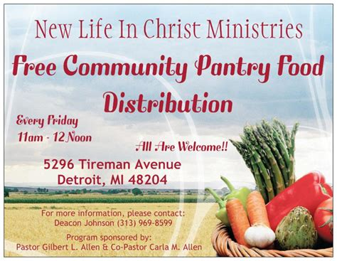 Church Food Pantry Mission Statement by Community Outreach