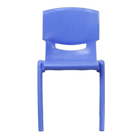 Plastic Stackable Chairs by Mfo Blue Plastic Stackable School Chair With 18 Seat Height