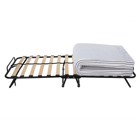 Folding Guest Bed With Steel Frame Homegear Rollaway Heavy Duty Steel Frame Wooden Slat Folding Guest Bed Ebay