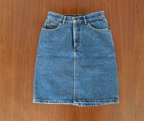 denim mini skirt 80s vintage esprit from kranzelic vintage
