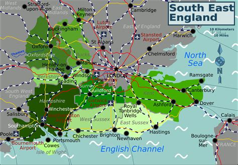 map uk south east map of the south east of