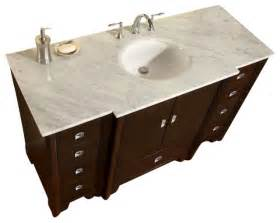 55 inch traditional single sink bathroom vanity