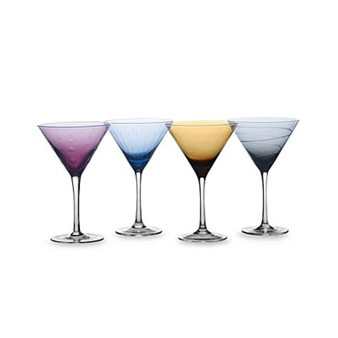 martini glasses cheers mikasa 174 cheers color martini glasses in assorted colors