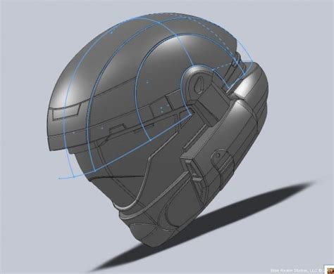 helmet design in solidworks blue realm studios slams down prop building intensity