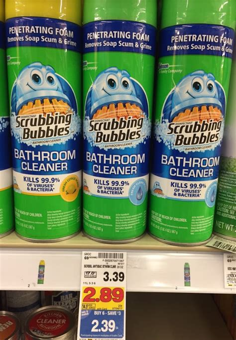 scrubbing bubbles bathroom cleaner coupon scrubbing bubbles bathroom cleaner 1 39 kroger couponing