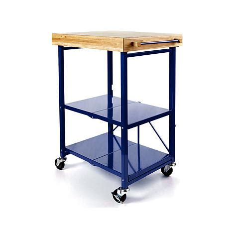 Origami Folding Kitchen Cart - origami folding kitchen island cart with casters 8090466