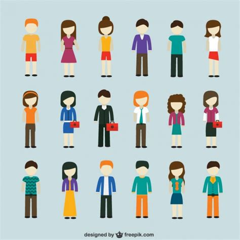 Modern people icons Vector | Free Download