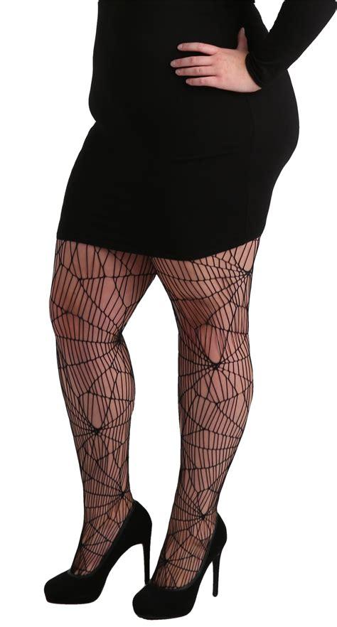 net pattern leggings plus size cobweb pattern net tights black pamela mann