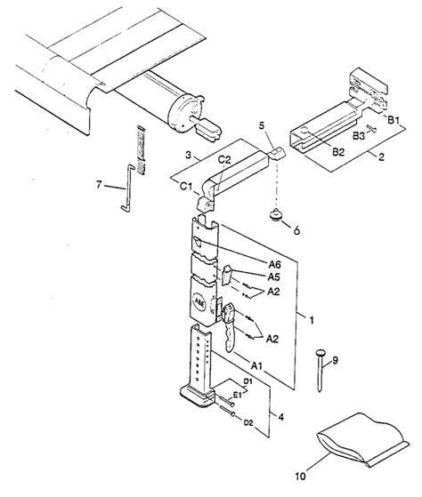 spare parts diagram dometic a e 8500 9000 awning