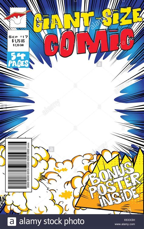 comic book cover template editable comic book cover with blank explosion background