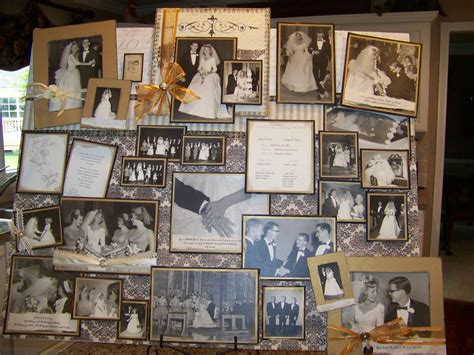 photo board ideas creations from my heart 50th anniversary board filled