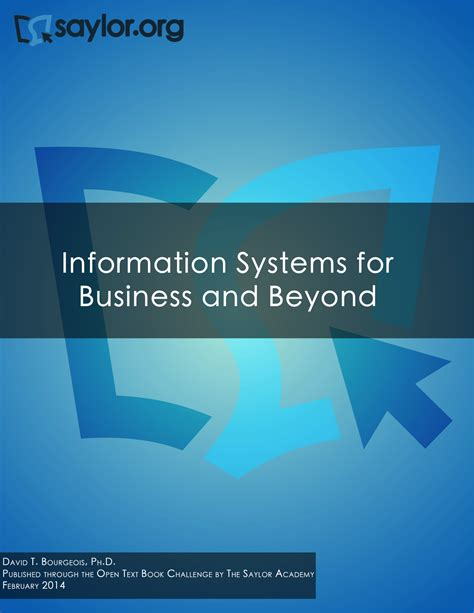 Mba Information Systems Title by Information Systems For Business And Beyond Simple Book