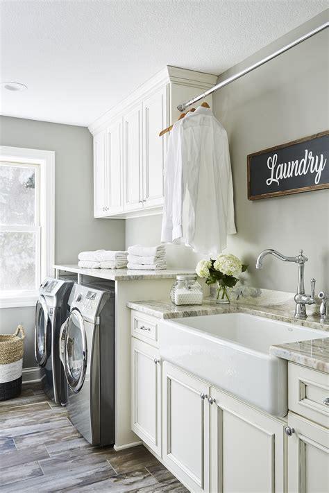 farmhouse style laundry room sneak peek design