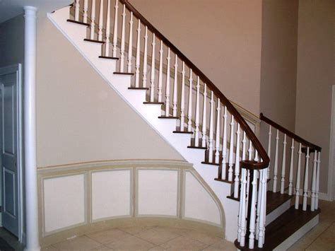 banister wood stair banisters best railing stairs and kitchen design