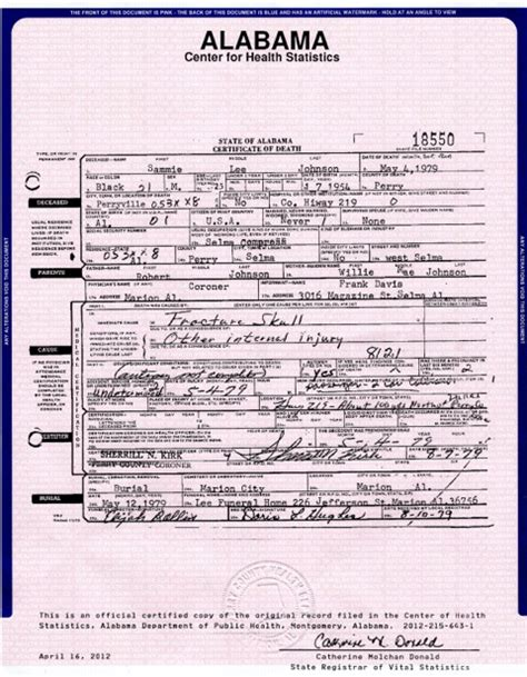 State Of Alabama Birth Records No To Jeff Sessions A Southwest Alabama Ole Boy