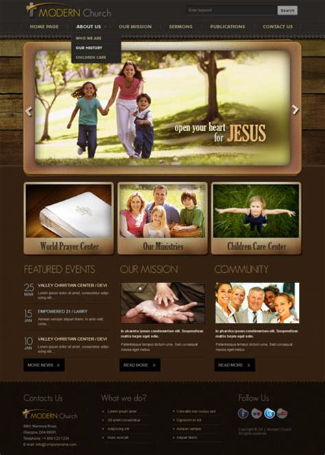 modern church v2 5 joomla template html5 web templates