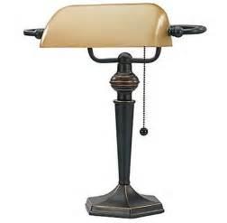 Bronze Bankers Desk Lamp Vintage Banker S Lamp Amber Glass Vintage Style Bronze